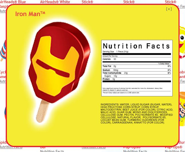 Iron Man Popsicle | Clearance Cuisine
